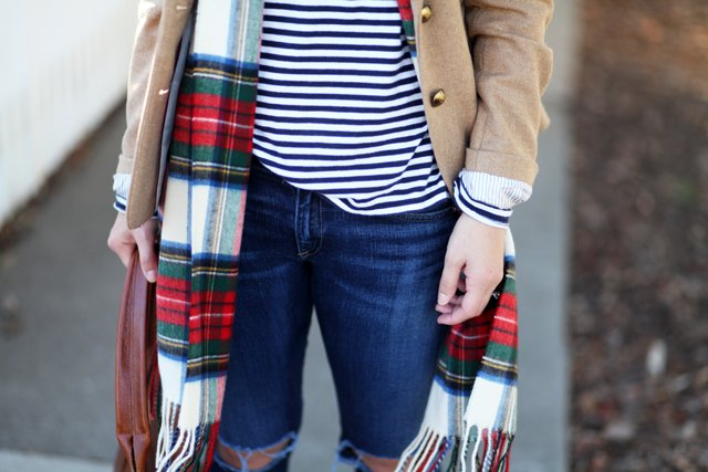 stripes and plaid mixed prints