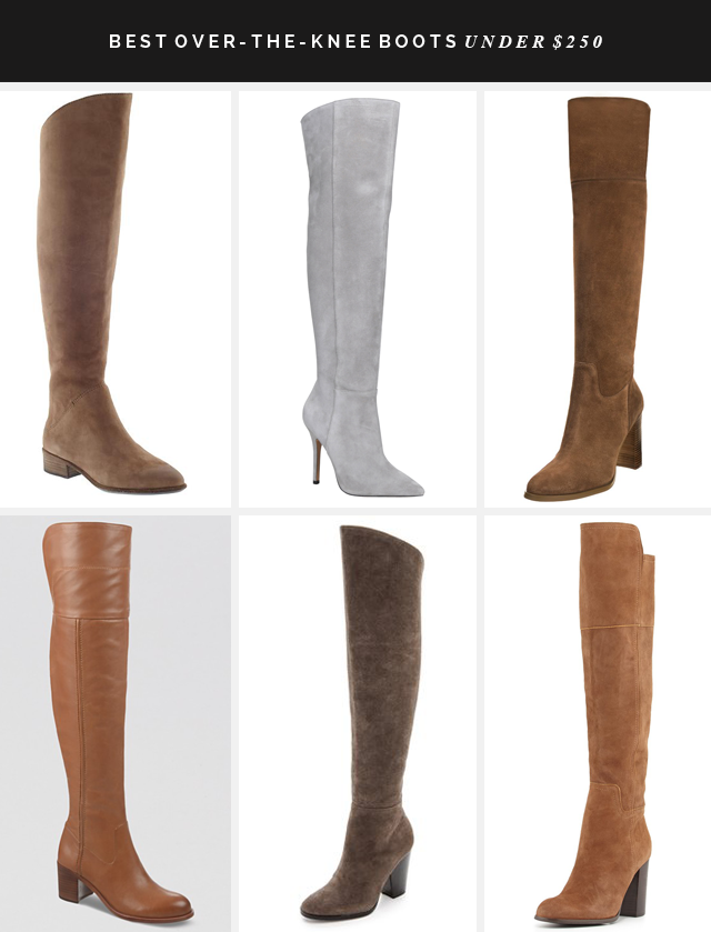 BEST OVER THE KNEE BOOTS under $250