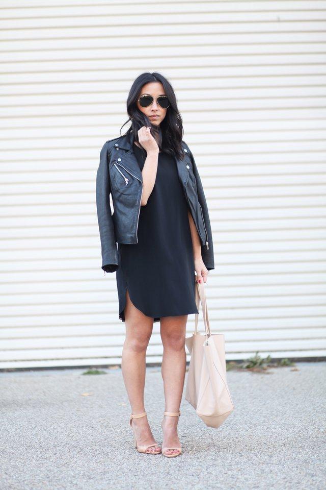 Cuyana silk shift dress