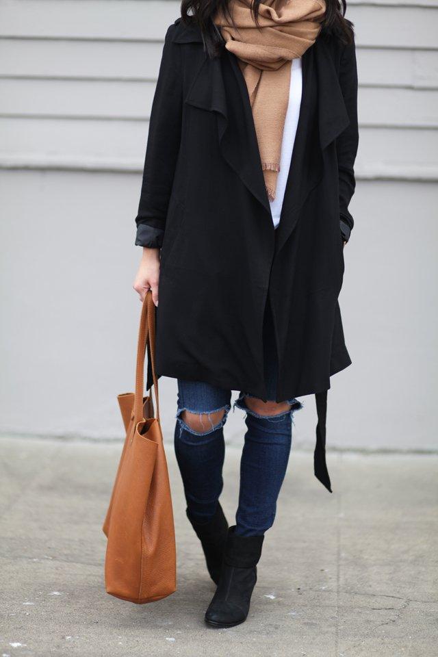 Forever 21 drape trench coat