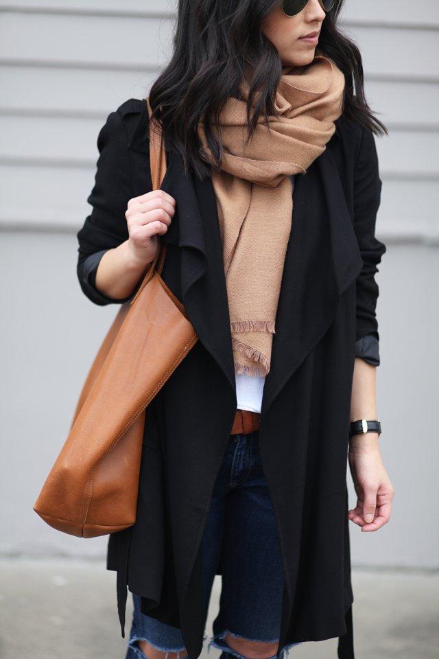 H&M camel scarf
