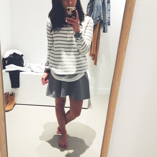 Lou and Grey stripe sweatshirt