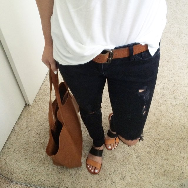 AG jean distressed ankle jeans