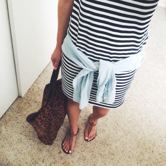 Zara striped shift dress