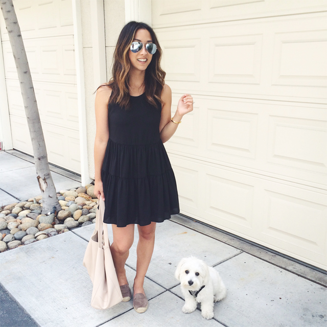 Black Lovers and Friends tiered dress