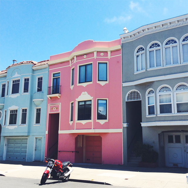 Colorful houses in sf