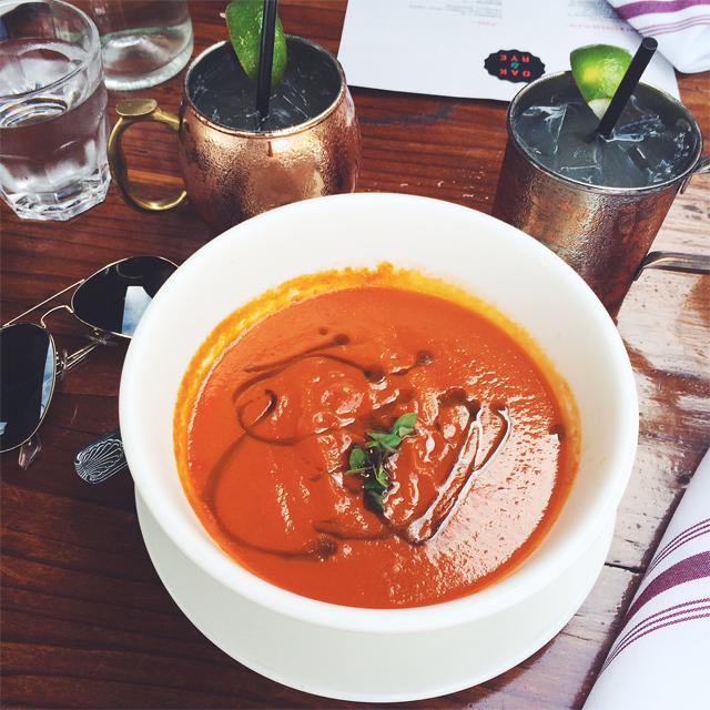 Oak & Rye tomato soup