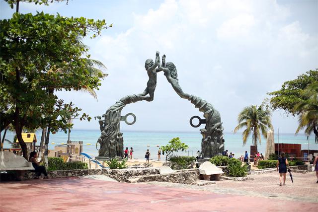 Portal Maya Sculpture