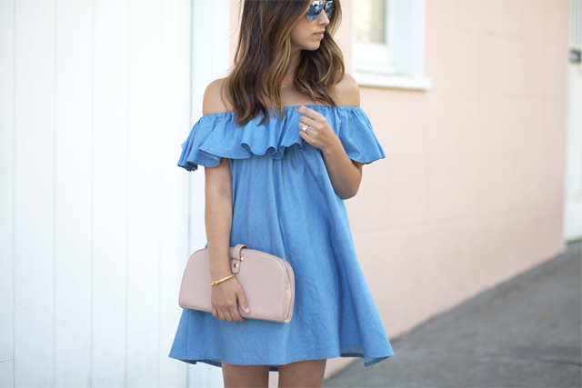 Chicwish over the shoulder dress