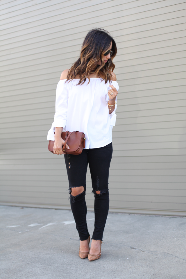 Zara off the shoulder top