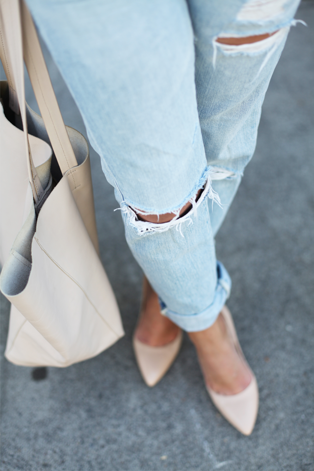 AG Light boyfriend jeans