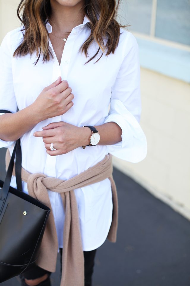 Daniel Wellington black leather watch