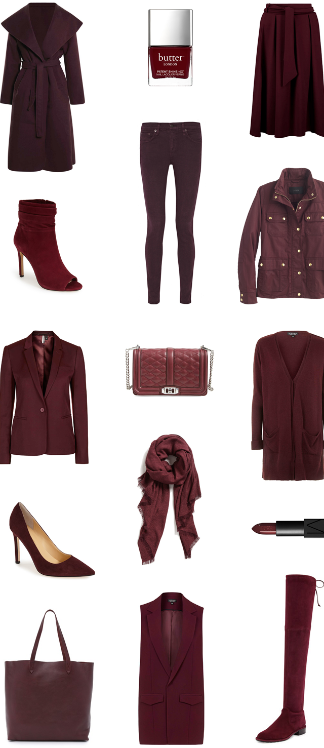 Fall trends- Burgundy