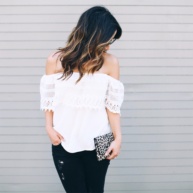 Society social off the shoulder top