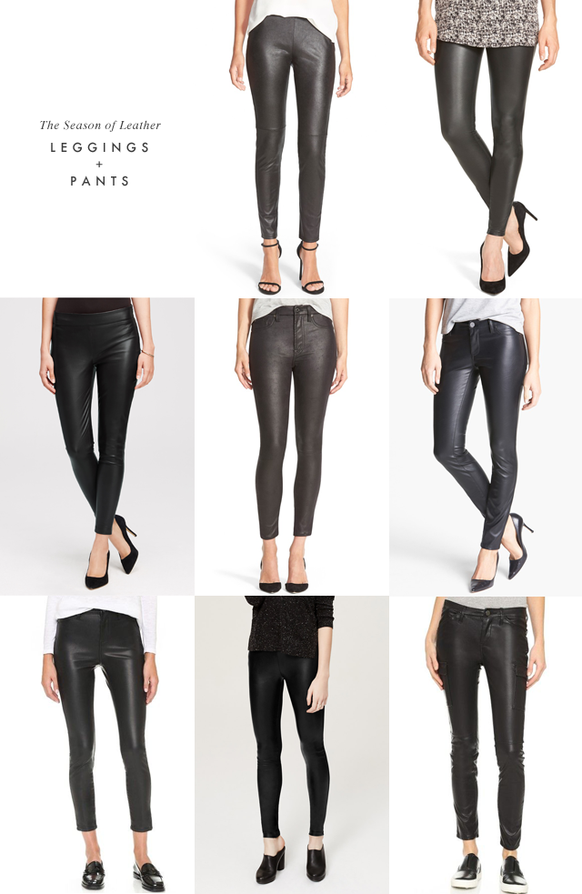Leather pants and leggings
