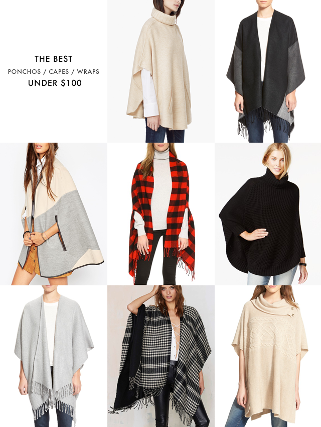 Ponchos and capes under $100
