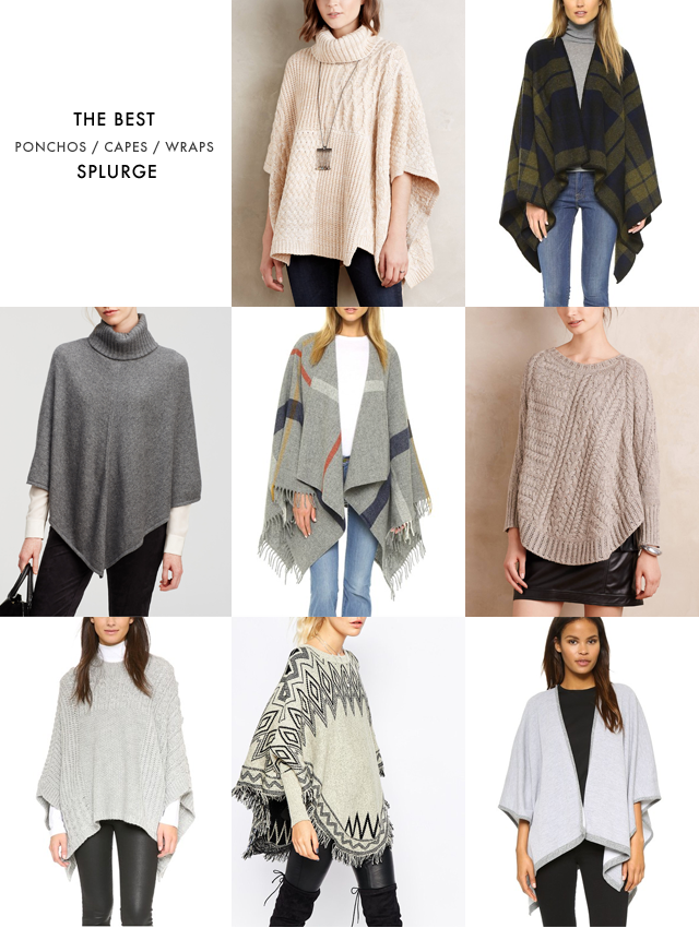 Ponchos and capes under SPLURGE