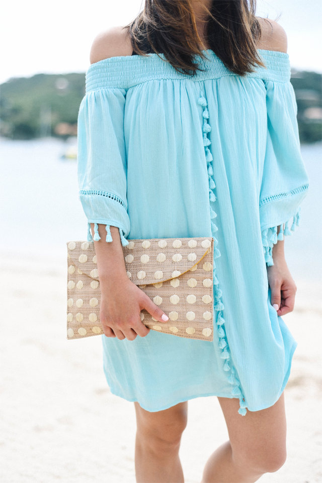Kayu polka dot clutch