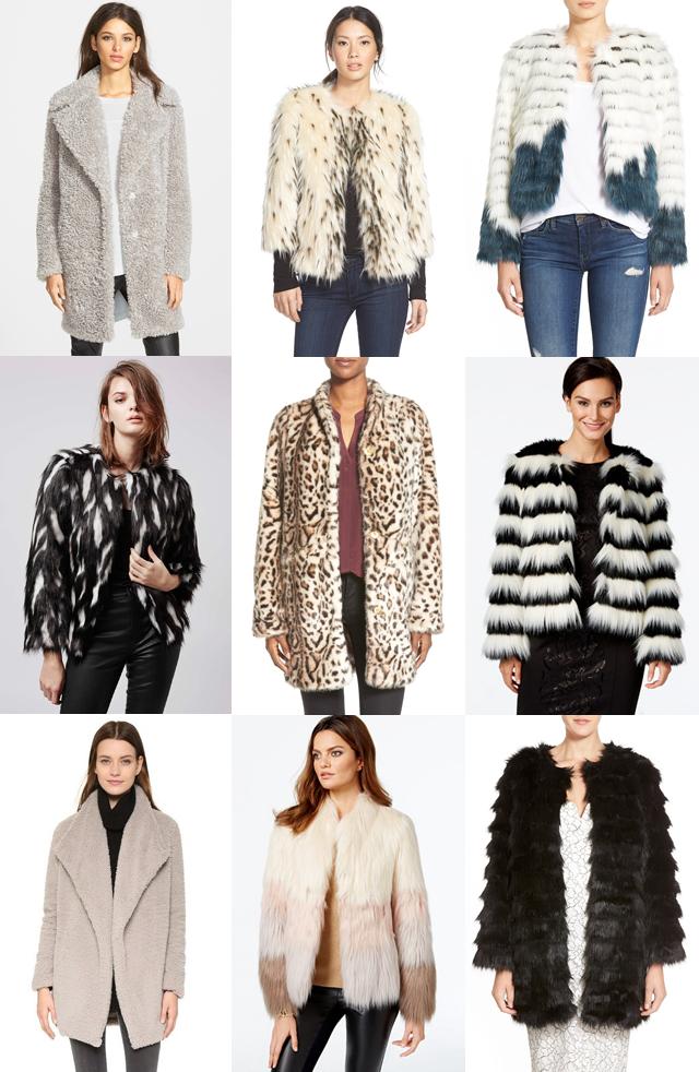 the best faux fur coats