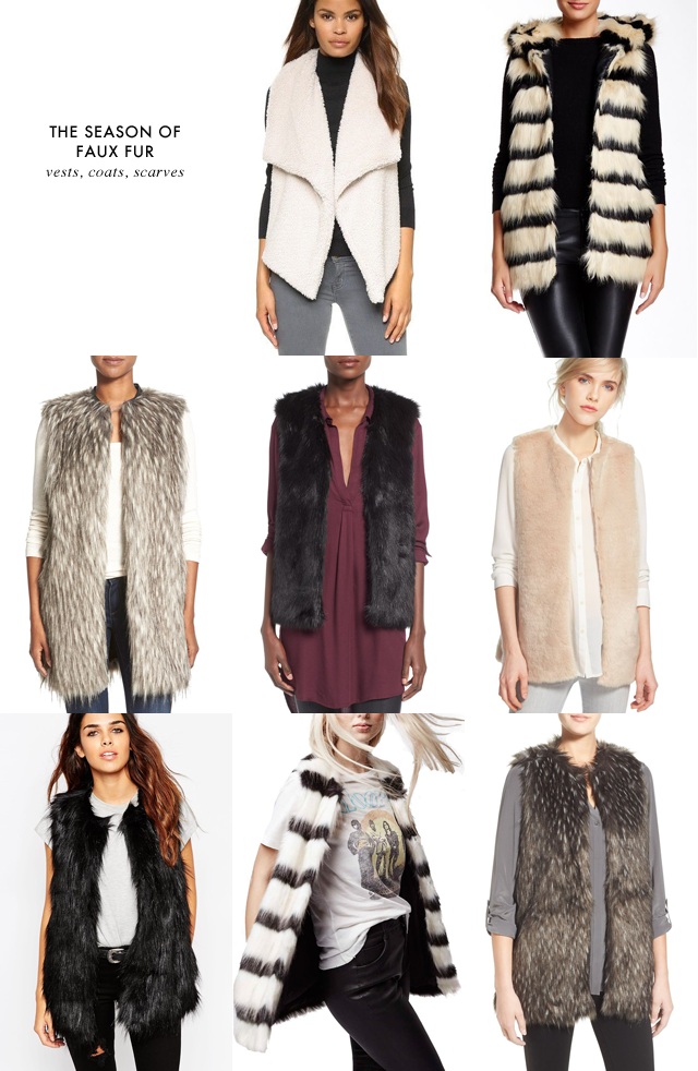the best faux fur vests