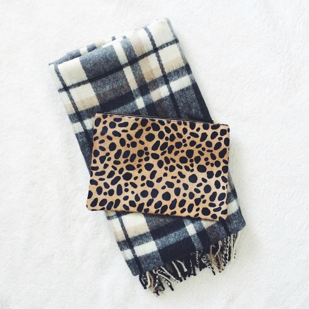 Clare Vivier leopard flat clutch Shopbop large