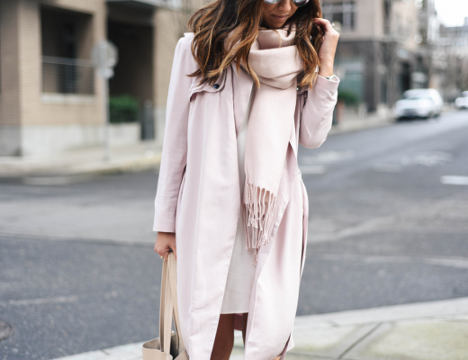 Soft pink Valentine's day outfit inspiration