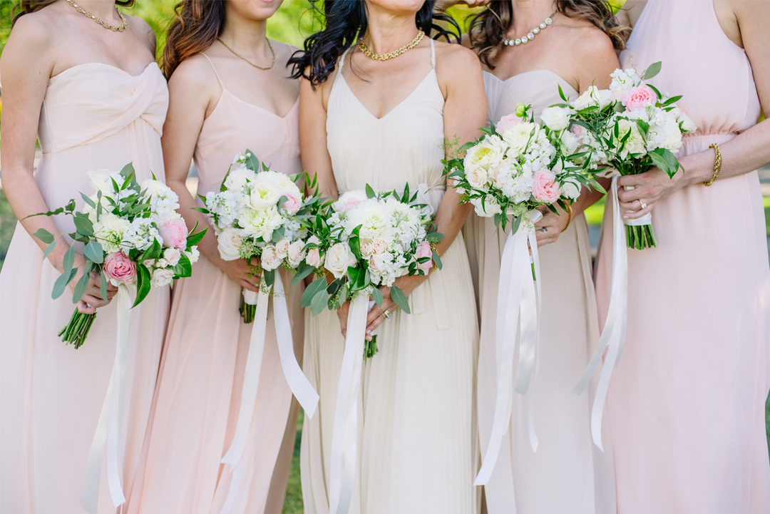 Blush and Nude Bridesmaid Dresses