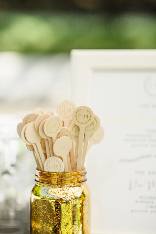 Custom Drink Stirrers by Meghan Miniello