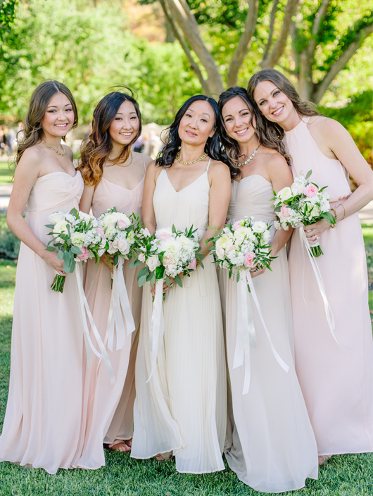 Neutral Floor Length Bridesmaid dresses