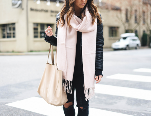 Topshop pink scarf