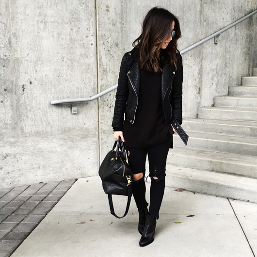 All Black Everything: Instagram Roundup + Outfit Details