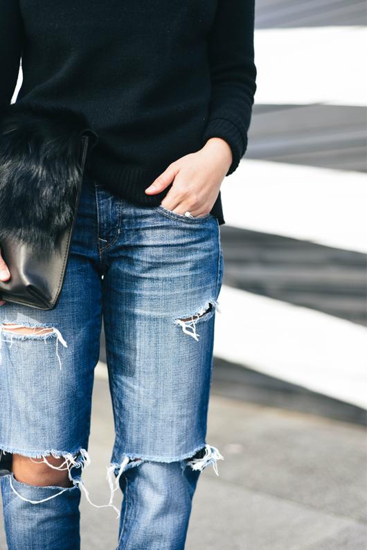Gap ripped skinny jeans