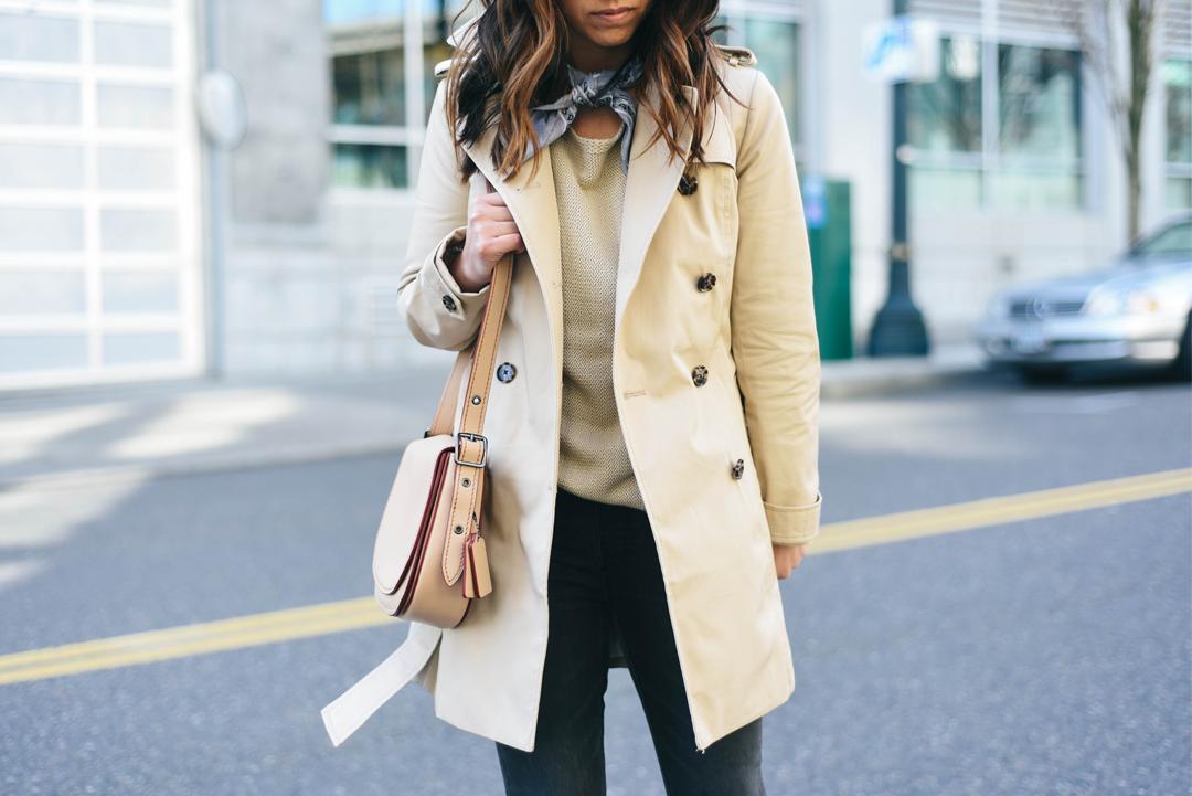 H&M beige oversized sweater