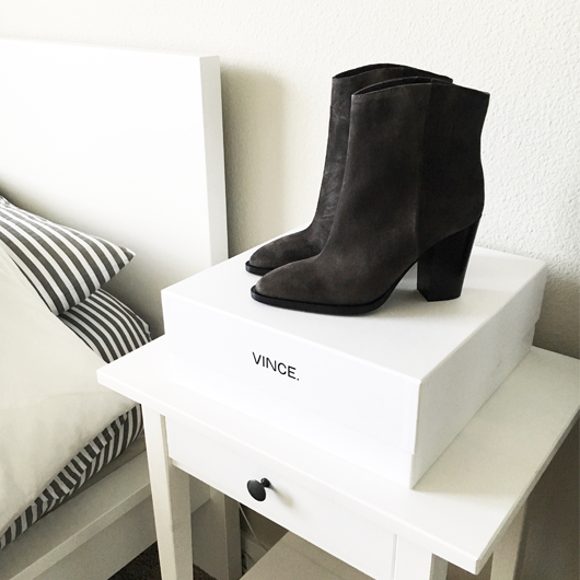 Vince grey ankle booties