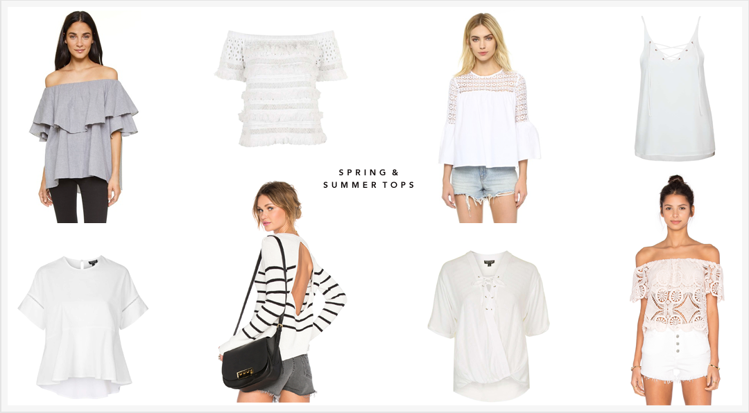 Spring and Summer tops