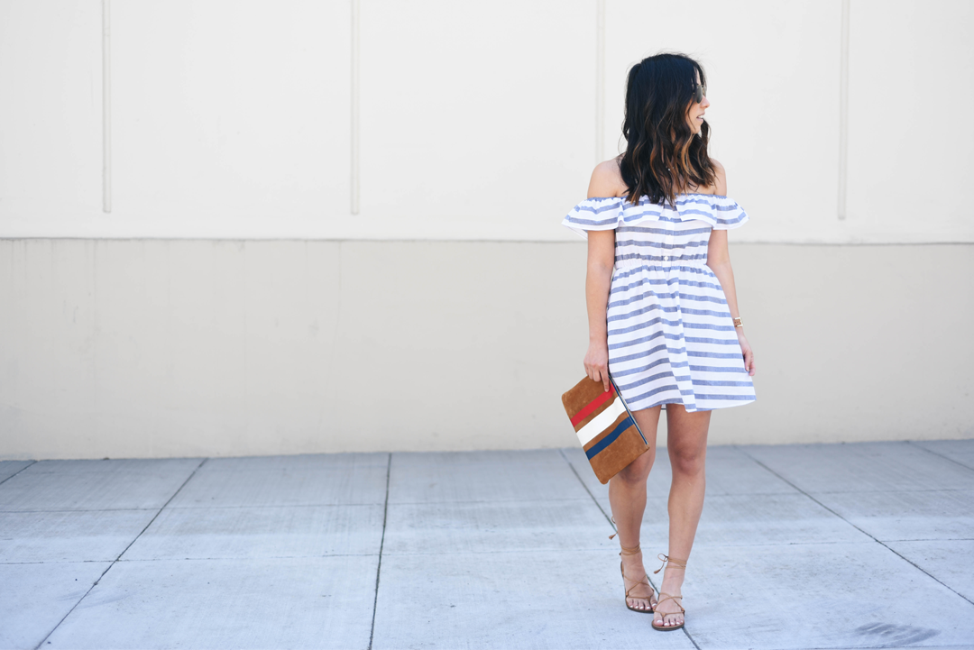 ASOS petite off the shoulder dress
