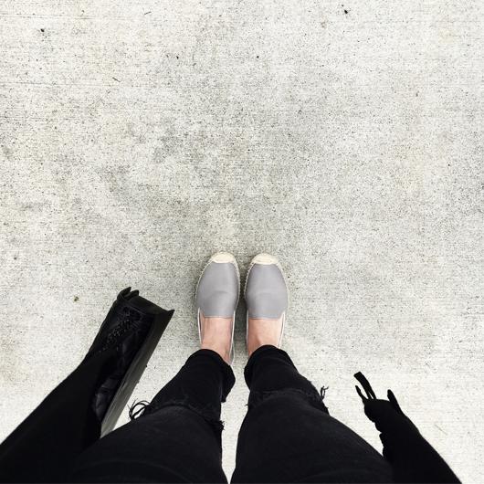 Gray soludos espadrilles