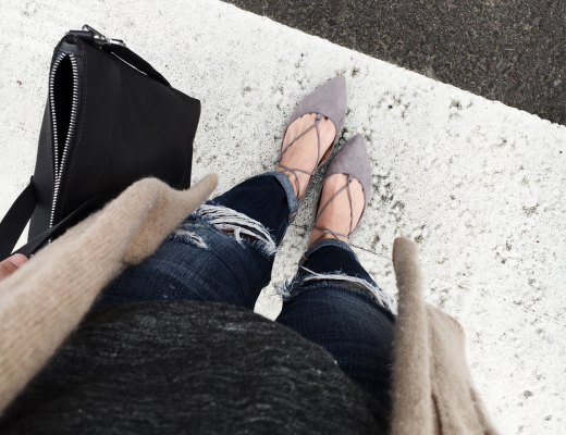 Steve Madden grey lace up flats
