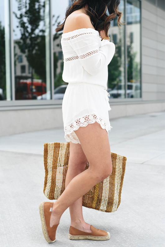 Crystalin Marie wearing Soludos Espadrilles leather platforms