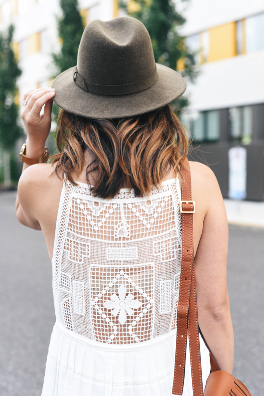 Free People Emily crochet dress in white