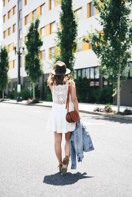 Free People Emily crochet dress