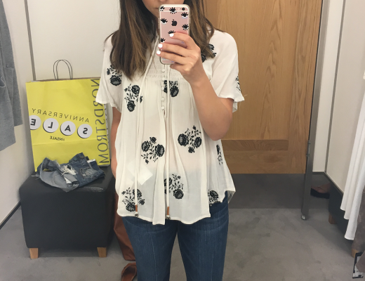 Chloe & Katie Embroidered Woven Top