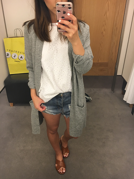 Crystalin Marie wearing BP. Open Front Cardigan