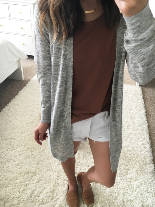 Crystalin Marie wearing Halogen® Long Belted Linen Blend Cardigan Nordstrom sale