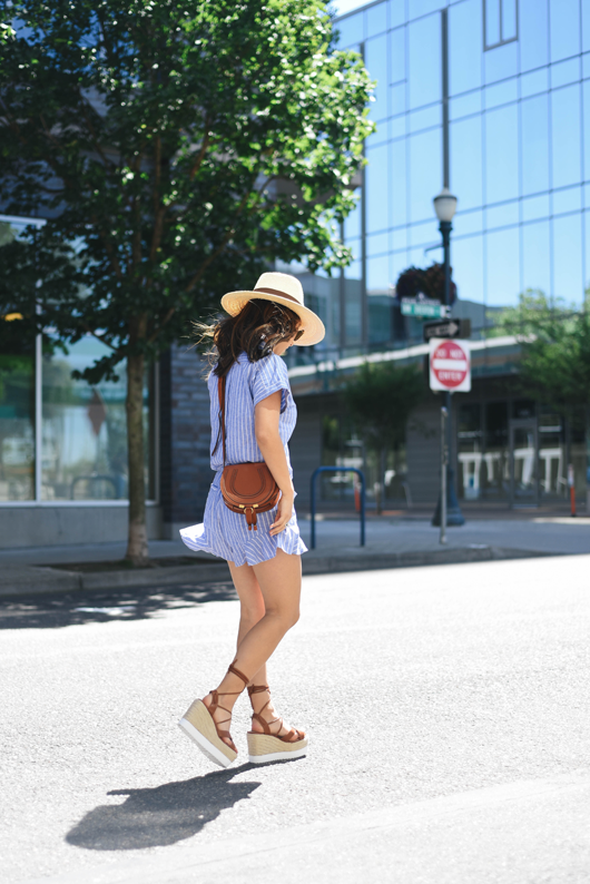 Forever 21 brown lace-up espadrille wedges