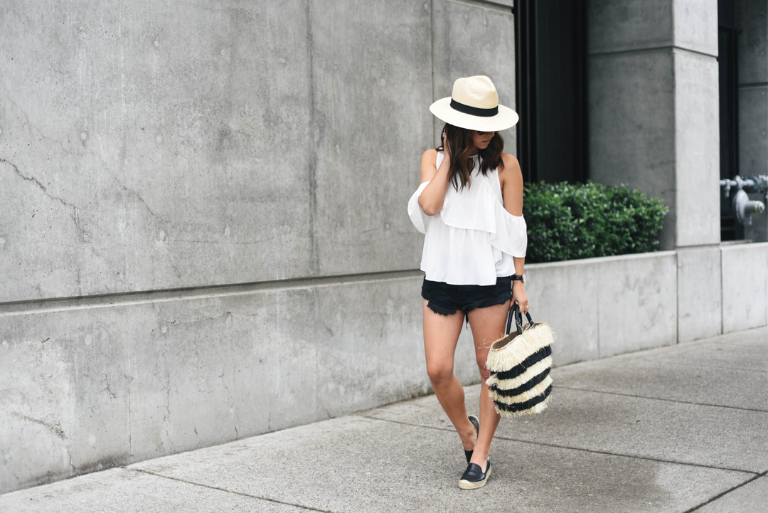 H&M cream panama hat