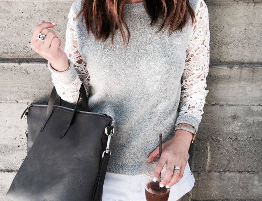 Halogen lace sweater