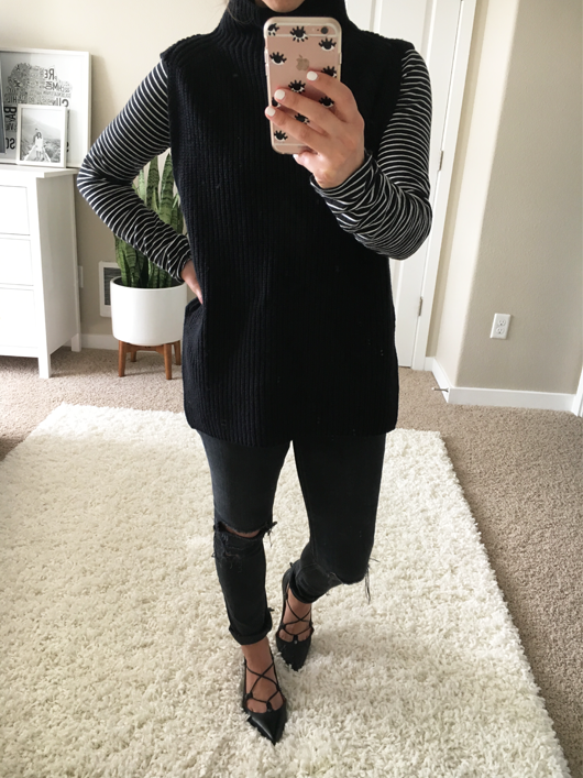 Trouvé Funnel Neck Sleeveless Sweater