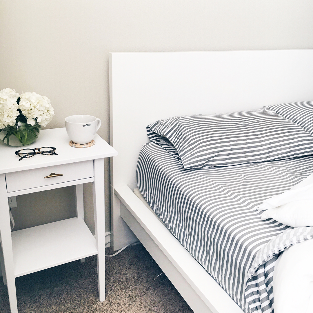 West Elm stripe sheets