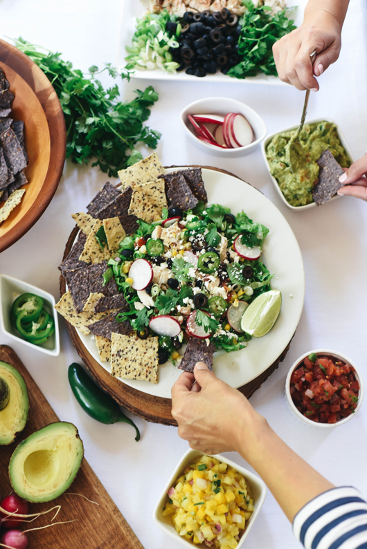 healthy nachos with Better Way Snacks and Crystalin Marie